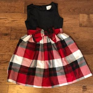 Red black and white suede girls dress by Gymboree